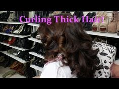 Quick Trick: Curling Thick/Healthy Hair and making it last!