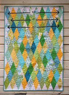 Diamond Patchwork - reminds me of the diamond stained glass window at our wedding