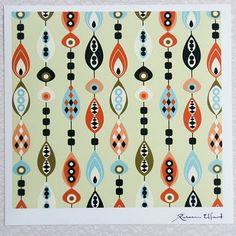 New print shop by swedish designer rebecca elfast of rebelform-love the colors!