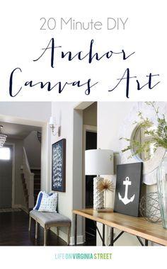 Anchor Art DIY Tutorial - Life On Virginia Street