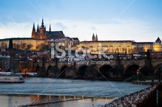 Charles Bridgewide and Castle of Prague Royalty Free Stock Photo