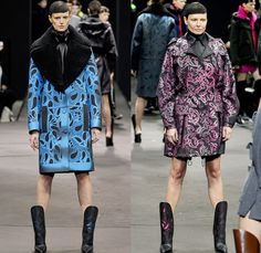 Alexander Wang 2014-2015 Fall Autumn Winter Womens Runway Looks - New York Fashion Week Catwalk - Shirtdress Sweaterdress Utilitarian Cargo Pockets V-Neck Military Combishorts Romper Outerwear Pea Coat Above The Knee Boots Knit Paisley 3d Digital Cutout Shorts Cutaway Hem Abstract Grid Wide Leg Palazzo Pants Chunky Rounded Hem