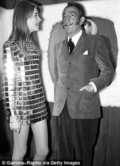 with Salvador Dalí in 1968