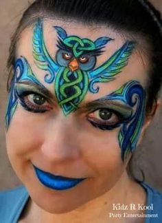 #facepaint design by Ann Lyon tribal #facepainting 1st place Illusion Mag tribal challenge