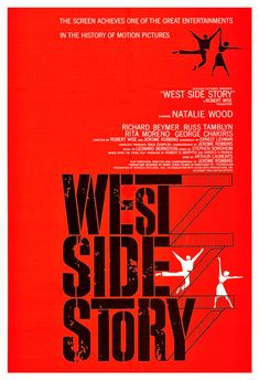 "West Side Story - film muzikale Poster Print - 13 ""x 19"" of 24 ""x 36"" - Home Theater Media kamer decor - Broadway Musical - Mid eeuw moderne"