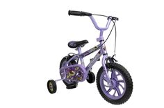Girl s Purple Bike 12 Intches Τraining Wheels Childrens Cycle Cycling Kids Fun