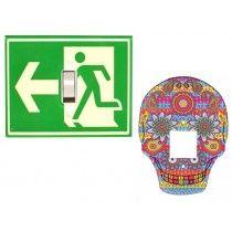 Conjunto Espelhos de Interruptor – Saída e Caveira Mexicana Jaya! Design
