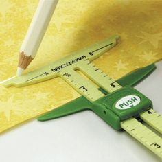 Measure, mark, and create with this versatile sliding gauge. Use it to space buttons and buttonholes, measure and mark seam allowances, get straight and even hems, create perfect circles, and measure right angles precisely. The 5-in-1 Sliding Gauge, designed by Nancy Zieman can be found at Nancy's Notions - Five in one - 5 in 1 - sewing - quilting -DIY - crafting