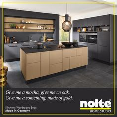 The Nappa Kitchen Has An Island Front In Nature Mocha Oak And The Cabinet  Front In