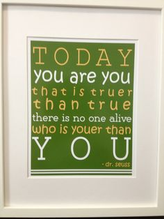 Nursery Wall Art Decor  Green Dr Seuss Quote by PaperDiamondDesign, $14.99
