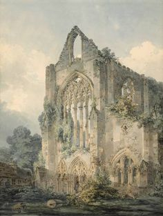 Joseph Mallord William Turner, 'Tintern Abbey, West Front' c.1794.