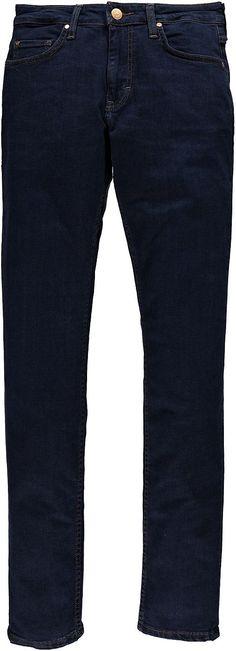 Hose mit hoher Leibhöhe, mittlerer Oberschenkelweite und leicht ausgestellteter Fußweite, Reißverschluß. Blue Power Stretch Denim, 98 % Baumwolle, 2 % Elasthan....