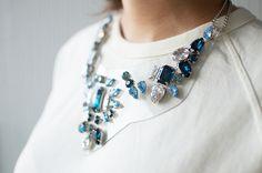 DIY Shourouk Inspired PVC and Rhinestone Necklace