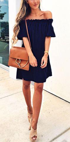 <off-the-shoulder dress>