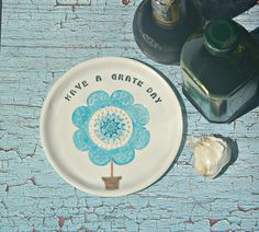 Grater Plate with Quote  Food Prep Grater by TheBabyHandprintCo