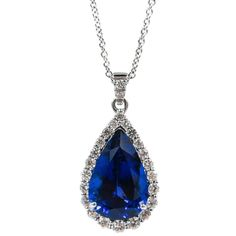 Leo Pizzo Tanzanite Diamond White Gold Pendant
