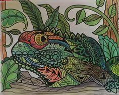 ColorIt Wild Animals Adult Coloring Book Colorist:Karen Beavers #adultcoloring #coloringforadults #adultcoloringpages #animalcoloringpages