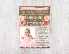 7a614260a422f00221547ac42ca8555b baptism and first birthday first birthday invitations photo winter birthday baptism invitation one derland party first,Invitation Wording For Baptism And Birthday