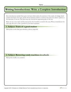 84 best essay writing images on pinterest in 2018 learning english how to write an introduction worksheet activity most introductions include three parts the lead ibookread ePUb