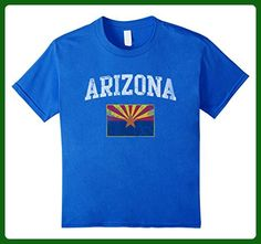 Kids Arizona Flag Retro Shirt 6 Royal Blue - Retro shirts (*Amazon Partner-Link)