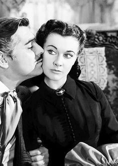 "Clark Gable and Vivien Leigh in ""Gone With the Wind"" 1939"
