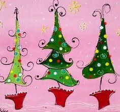 Image result for Whimsical Christmas Paintings