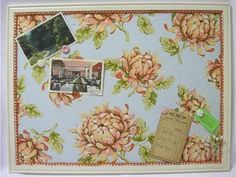 Fabric-Covered Corkboard #boards by ruby