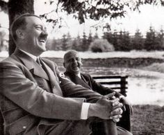 Adolf Hitler Laughing at a Vacation in Harz Mountains, 17-21.7.1935