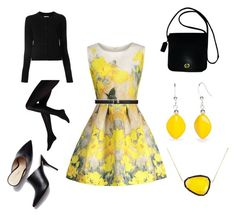 """Yellow Rose"" by pinesie on Polyvore featuring Christina Debs, Coach, Maison Margiela and Kim Rogers"