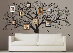 What better way to display photos of your loved ones than in our Family Tree Decal! Place framed photos all around the tree! Photo Tree, memory tree, beautiful and elegant, makes the best feature wall Tree Wall Murals, Tree Decals, Tree Wall Decor, Wall Decals, Wall Stickers Family, Family Tree Wall Sticker, Family Wall, Big Family, Family Tree Photo