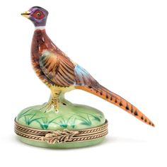 Pheasant Limoges Box | Limoges Boxes | Handpainted Porcelain | Collectables | ScullyandScully.com