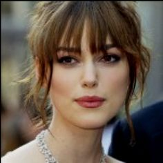 Love the bangs & make-up! Plus she's gorgeous.