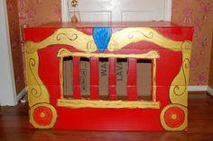 DIY cardboard box circus train