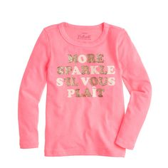 Girls' more sparkle s'il vous plaît tee : collectible tees | J.Crew