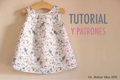 Aprender a coser: vestido sencillo para niñas (patrones gratis hasta la talla 7 años)