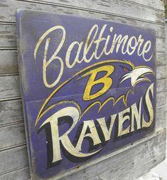 Baltimore Ravens  Sign, original,art, faux-vintag