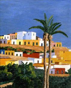 Vistas Canary Islands, Oil On Canvas, Modern Art, Spain, Urban, Mansions, House Styles, World, Painting