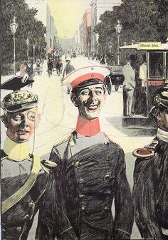 Eduard Thöny, Simplicissimus, Ein harmloser Abend, 1897.