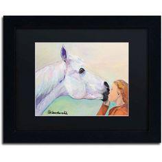 Trademark Fine Art Opie's Kiss Canvas Art by Pat Saunders-White, Black Mat, Black Frame, Size: 11 x 14