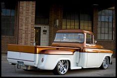 1956 Chevy 3100 I shot in Denver 57 Chevy Trucks, Old Pickup Trucks, Classic Chevy Trucks, Hot Rod Trucks, Cool Trucks, Classic Cars, Old Chevy Pickups, Chevy Stepside, Classic Trucks Magazine