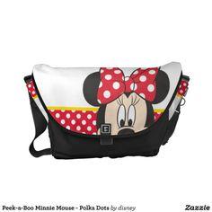 Peek-a-Boo Minnie Mouse - Polka Dots Courier Bag