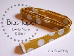 Bias Tape   How it's Made & How it's Used