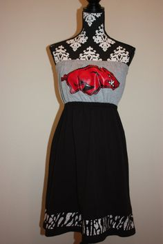 arkansas razorback dress! :)