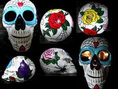 DIY Day of the Dead skull