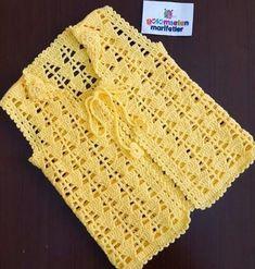 Best 8 Round Yoke Cardigan – Knitting pattern by OGE Knitwear Designs – SkillOfKing. Crochet Poncho With Sleeves, Crochet Bolero Pattern, Crochet Waistcoat, Crochet Baby Cardigan, Knit Baby Sweaters, Baby Afghan Crochet, Crochet Wool, Crochet Jacket, Freeform Crochet