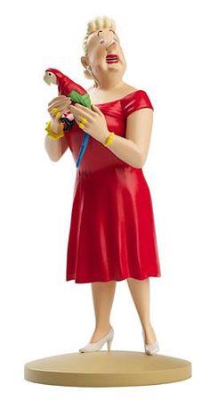 Bianca Castafiore  FIGURINE NUMERO 5  COLLECTION disponible en France et en Belgique.  Référence de la figurine :  Les Bijoux de la Castafiore, planche 34, case A2