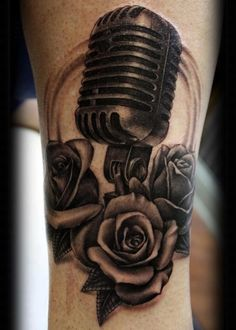 This piece is just...WOW! The Shure 55 and the roses. With the roses shaded the way they are, with that BEAUTIFUL DEPTH, it seems like the roses have mic floating over the arm. ROCKIN'.
