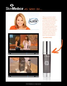 The spotlight was on TNS Recovery Complex #anti-aging benefits as a hot #Hollywood skincare trend on the #KatieShow!