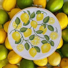 Zesty stitches by @stitch.michelle 🍋🍋 Modern Cross Stitch, Cross Stitch Designs, Embroidery, Photo And Video, Stitches, Instagram, Needlepoint, Stitching, Drawn Thread