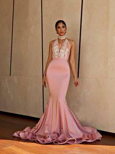 Mermaid Prom Dresses High Neck Trumpet Beautiful Prom Dress Sexy Evening Dress JKL921